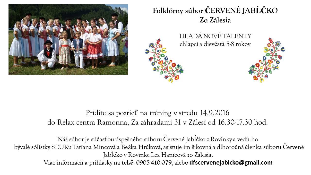 c6be7e734 Oznamy - ČERVENÉ JABĹČKO - hľadáme nové talenty - Oficiálné stránky ...